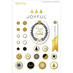 Joyful Decorative Brads 24/Pkg - 2