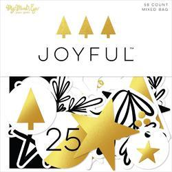 Joyful Mixed Bag Cardstock Die-Cuts 58/Pkg - 2