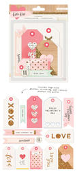Kiss Kiss Layered Tags 14 pkg - 2