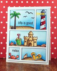 Life is Good Clear Stamps - 2
