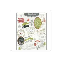 Merry & Bright Ephemera Cardstock Die-Cuts w/Glitter 70 pkg - 2