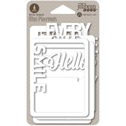 Mini Placemats Die-Cut Cardstock Cards SMILE - 2