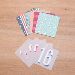 Number Themed Cards 4x4 Project Life® - 2