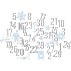 Oh What Fun Number & Shape Die-Cuts blue/silver - 2