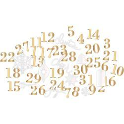Oh What Fun Number & Shape Die-Cuts gold/pearl - 2