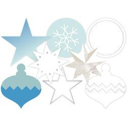 Oh What Fun Winter Silver Foil Transparent Die-Cut Shapes blue/silver - 2
