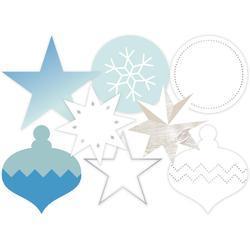 Oh What Fun Winter Silver Foil Transparent Die-Cut Shapes blue/silver - 2