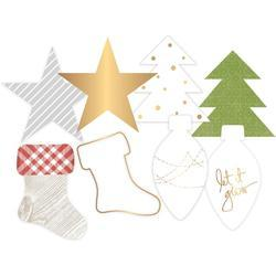 Oh What Fun Winter Gold Foil Transparent Die-Cut Shapes - 2