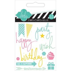 Party Mixed Media Clear Mini Stamps - 2
