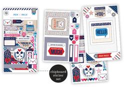 Pen Pals Chipboard Stickers Flip Pack 3sheets - 2