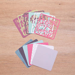 Phrase Die-Cuts Cards 4x4 Project Life® - 2
