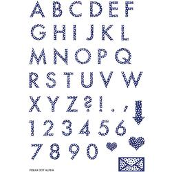 "Polka Dot Alpha Clear Stamps 4""x6"" - 2"
