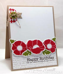"""Pretty Poppies Stamps 4""""x8"""" - 2"""