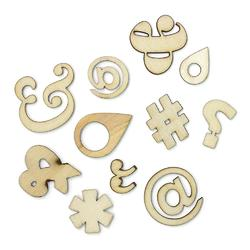 Punctuation Laser-Cut Wood Veneer 121 pkg - 2