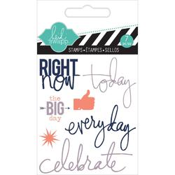 Right Now Mixed Media Clear Mini Stamps - 2