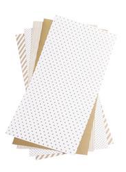 "Shape 'n Tape Washi Sheets Gold 6""x12"" 5/Pkg - 2"