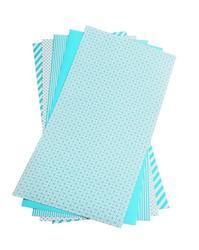 """Shape 'n Tape Washi Sheets Teal 6""""X12"""" 5/Pkg - 2"""