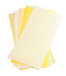 "Shape 'n Tape Washi Sheets Yellow 6""X12"" 5/Pkg - 2"