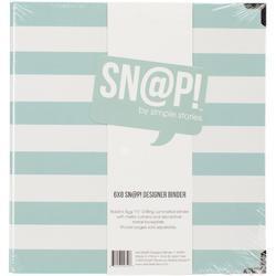 """Sn@p! Robin's Egg Stripe Designer Binder 6""""x8"""" - 2"""