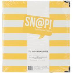 """Sn@p! Yellow Stripe Designer Binder 6""""x8"""" - 2"""