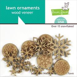 Snow Day Lawn Ornaments Wood Veneer - 2