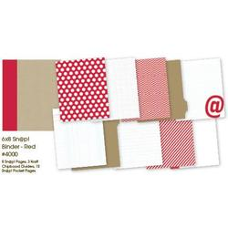"Sn@p! Binder Album - Red 6""x8"" - 2"