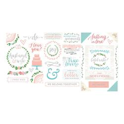 Southern Weddings Project Life Chipboard Stickers - 2