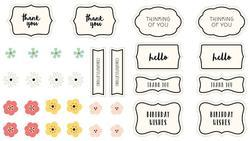 Spring Fling Minc Label Stickers - 2