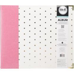 "Strawberry w/Gold Foil Dots D-Ring Album 12""x12"" - 2"