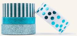 Teals Necessities Decorative Tape 4 Rolls/pkg - 2
