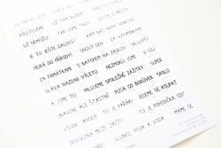 Léto Papírové samolepky - Texty - 2