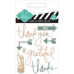 Thank You Mixed Media Clear Mini Stamps - 2