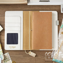 "Color Crush Faux Leather Travelers' Planner 5.75""X8"" Champagne - 2"