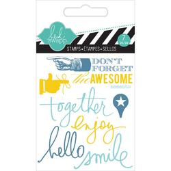 Together Mixed Media Clear Mini Stamps - 2
