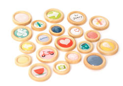 True Stories Wooden Buttons 20 pkg - 2