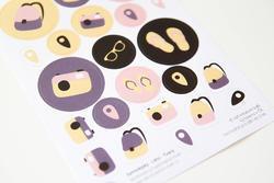Léto Papírové samolepky - tvary - 2