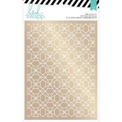Wanderlust Geometric Print/Gold Rub-On Foil Kit - 2