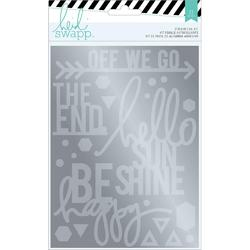 Wanderlust Silver Sentiments Stickers & Foil Kit - 2