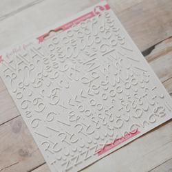White Script Foam Stickers - 2