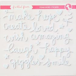 White Words Foam Stickers - 2