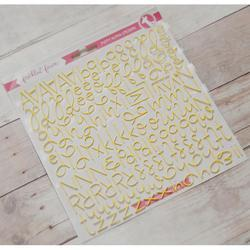 Yellow Script Foam Stickers - 2