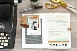 Typecast Notebook wPockets - potisk zlatý - 3