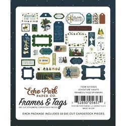 Adventure Awaits Frames & Tags Cardstock Die-Cuts 33/Pkg - 3