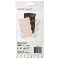 Along The Way Phrase Stickers 120/Pkg - 3