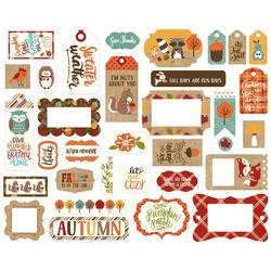 Celebrate Autumn Cardstock Frames & Tags Die-Cuts 33/Pkg - 3