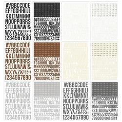 Color Vibe Basics Alpha Sticker Book 12/Sheets - 3