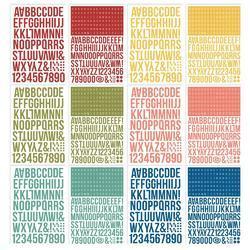 Color Vibe Bold Alpha Sticker Book 12/Sheets - 3