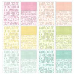Color Vibe Lights Alpha Sticker Book 12/Sheets - 3