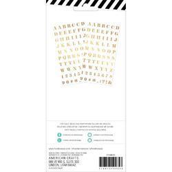 Emerson Lane Alpha Gold Stickers 140/Pkg - 3