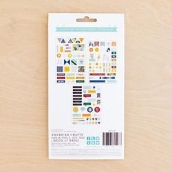 Sharp Project Life Chipboard Stickers - 3